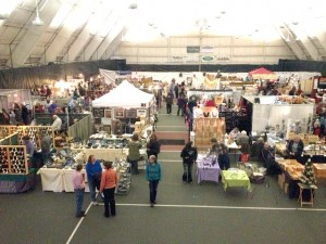 Aerial view of previous REM Craft Fair