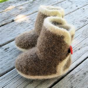 Felted Baby Booties...