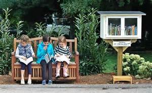 Imagine a free library reading bench...