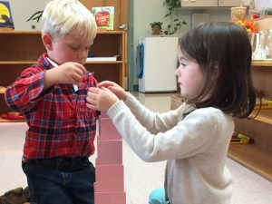 Children at Kennebec Montessori School