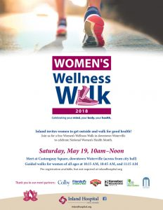 Meet at Castonguay Square, Downtown Waterville for Women's Wellness Walk