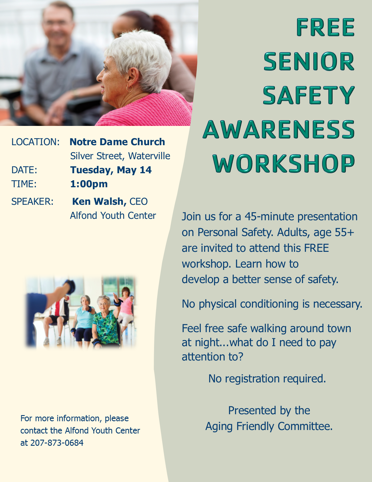Senior Safety Awareness Workshop May 14