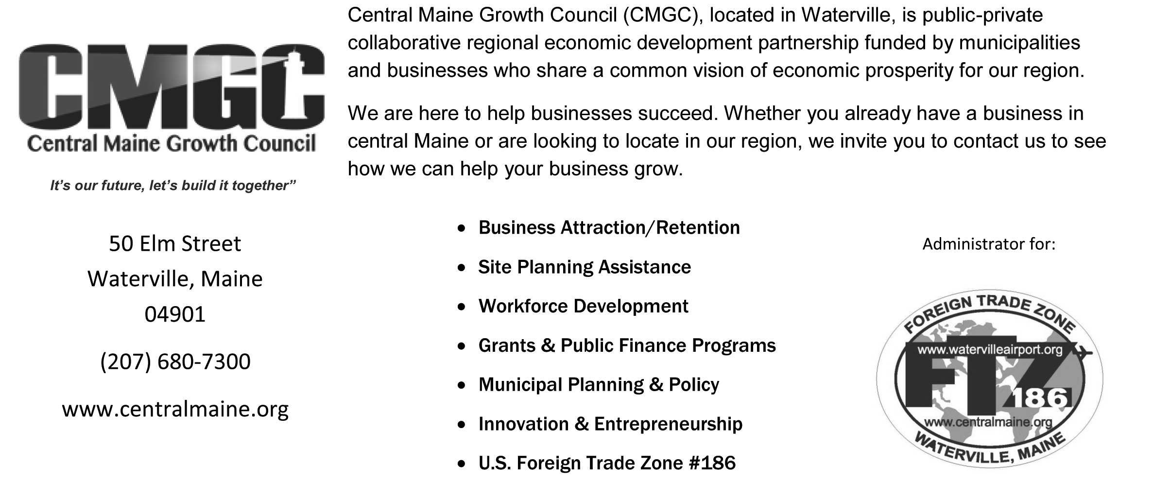 Central Maine Growth Council info