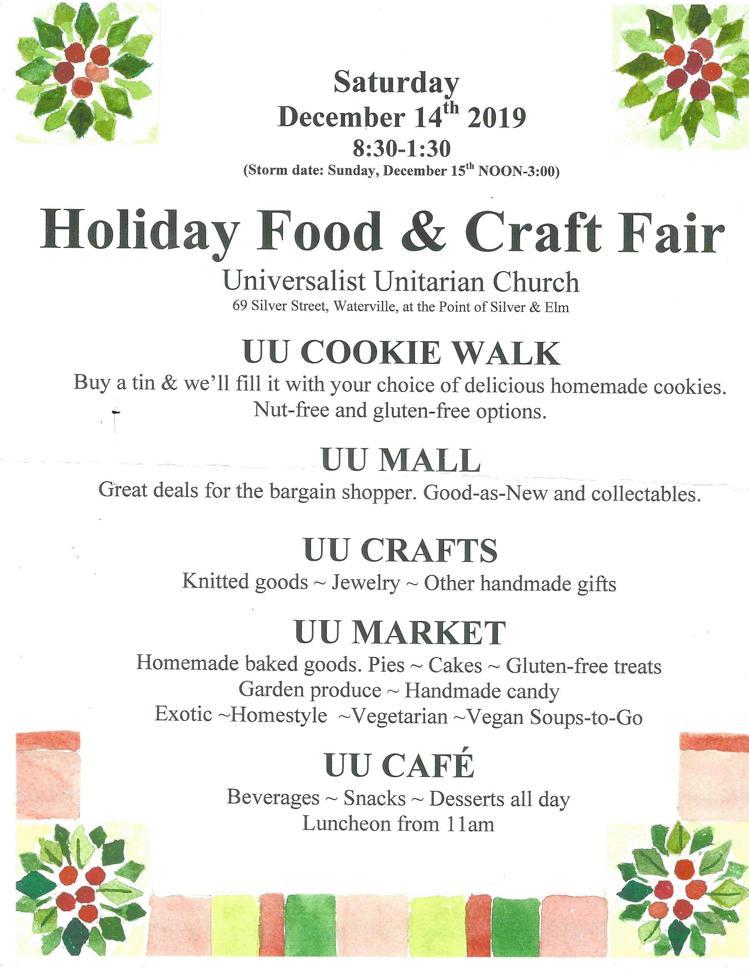 Cookie Walk, Crafts, Market, Cafe